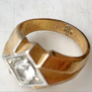 Gold filled art deco ring